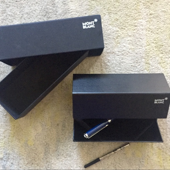 Mont Blanc Other - 100% AUTH. MONT BLANC PEN in BOX w/ Blue&Blk Ink